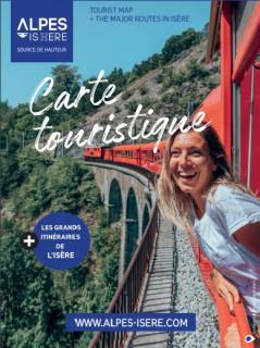 Carte touristique de l'Isère