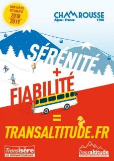 Dépliant horaires et tarifs Transaltitude Grenoble-Chamrousse Hiver 2018-19