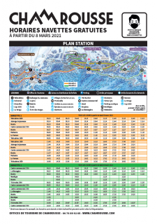 Timetable free schuttle Chamrousse winter 2020-21