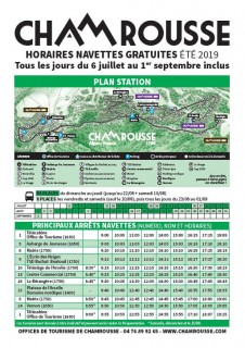 Timetable free schuttle Chamrousse summer 2019