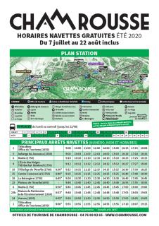 Timetable free schuttle summer 2020