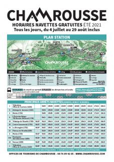 Timetable free schuttle summer 2021
