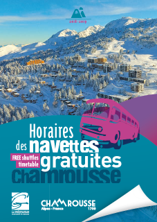 Leaflet free shuttles timetable Chamrousse Winter 2018-19