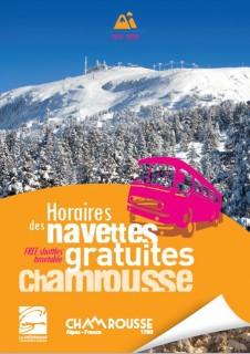 Leaflet free shuttles timetable Chamrousse Winter 2019-20