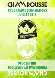 Programme Animations - Juillet 2016