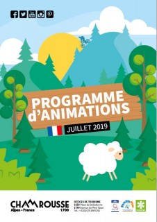 Programme Animations - Juillet 2019