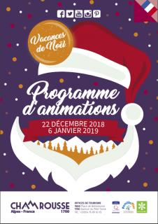 Programme Animations Décembre Hiver 2018-19