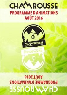 Programme Animations - Août 2016