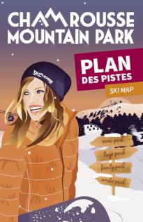 Winter ski map (alpine, nordic, snowshoeing) 2018-19