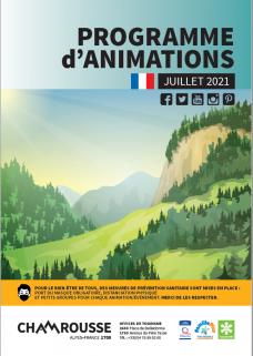 Programme d'animation Juillet 2021