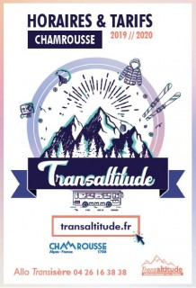 Timetable winter bus line Transaltitude Chamrousse-Grenoble Winter 2019-20