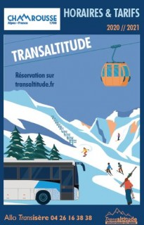 Timetable winter bus line Transaltitude Chamrousse-Grenoble Winter 2020-2021