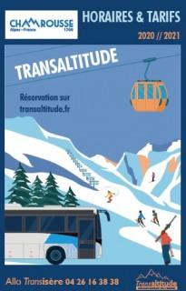 Timetable winter bus line Transaltitude Chamrousse-Grenoble Winter 2020-2021 (CANCELED)