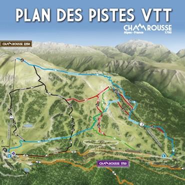 Plan des pistes VTT