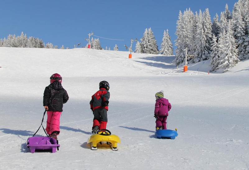 Children sledge areas in free access