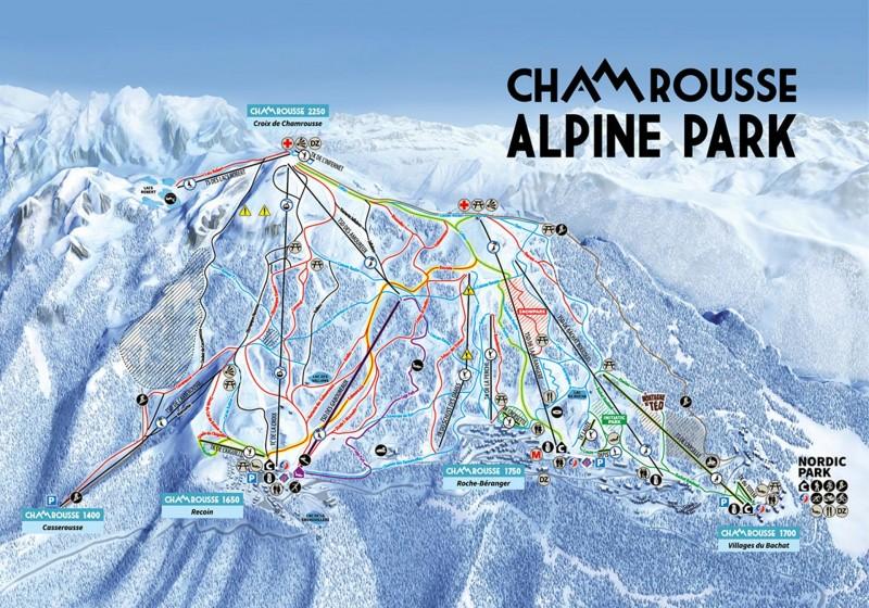 Plan des pistes de ski alpin