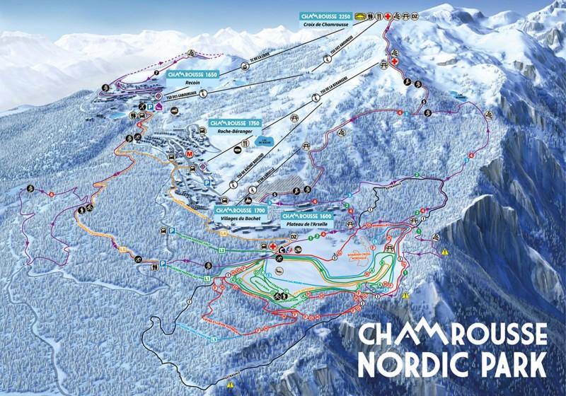 Nordic ski map