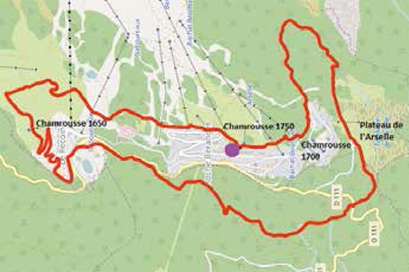 Mountain e-bike map