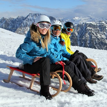 Resort sledge pratices and areas