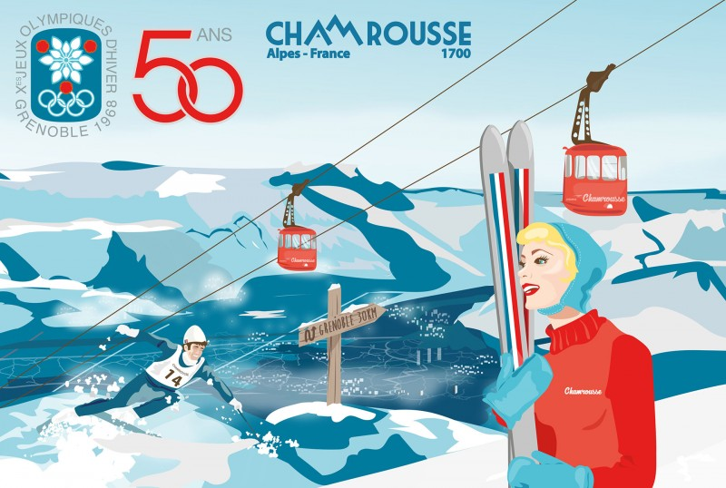50th anniversary of Grenoble - Chamrousse Olympics Games