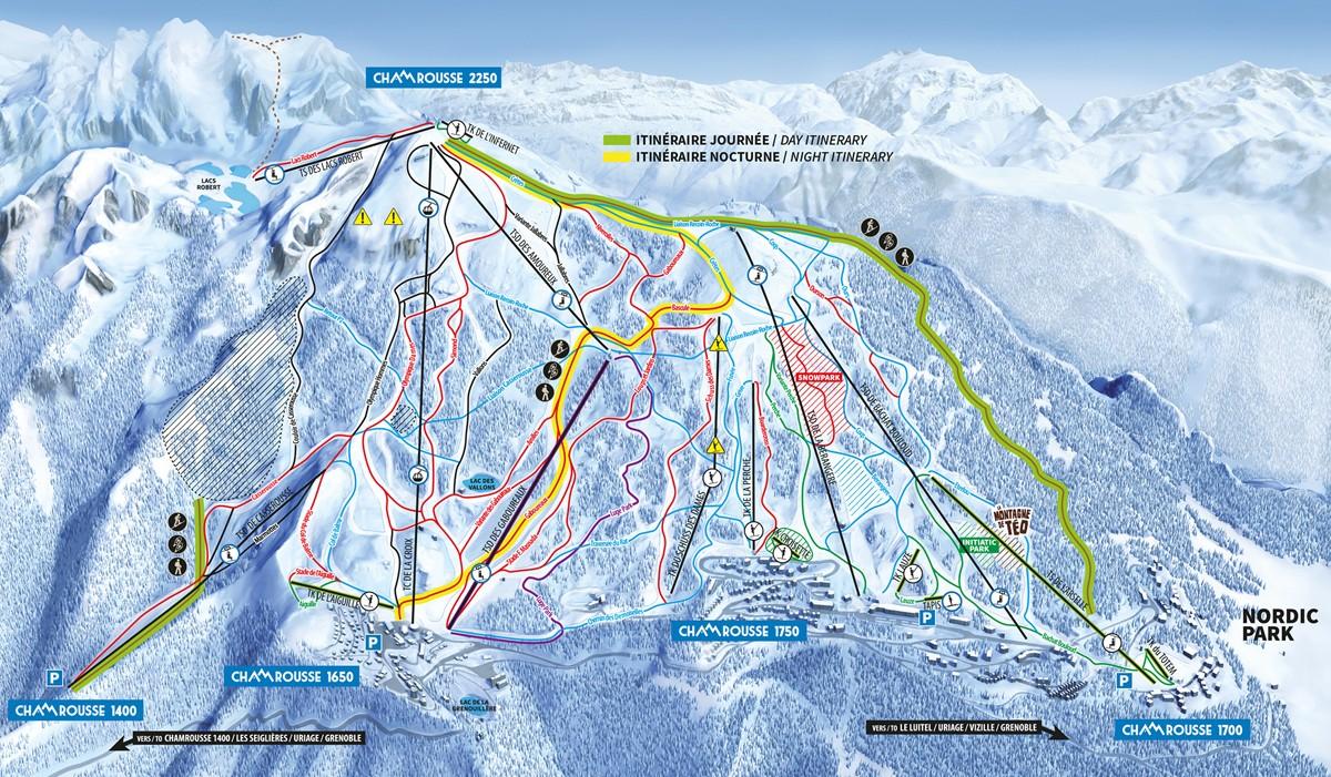 Chamrousse ski touring routes