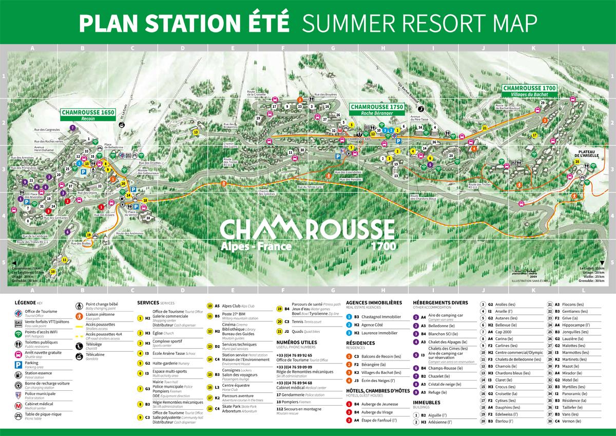 Plan station Chamrousse été
