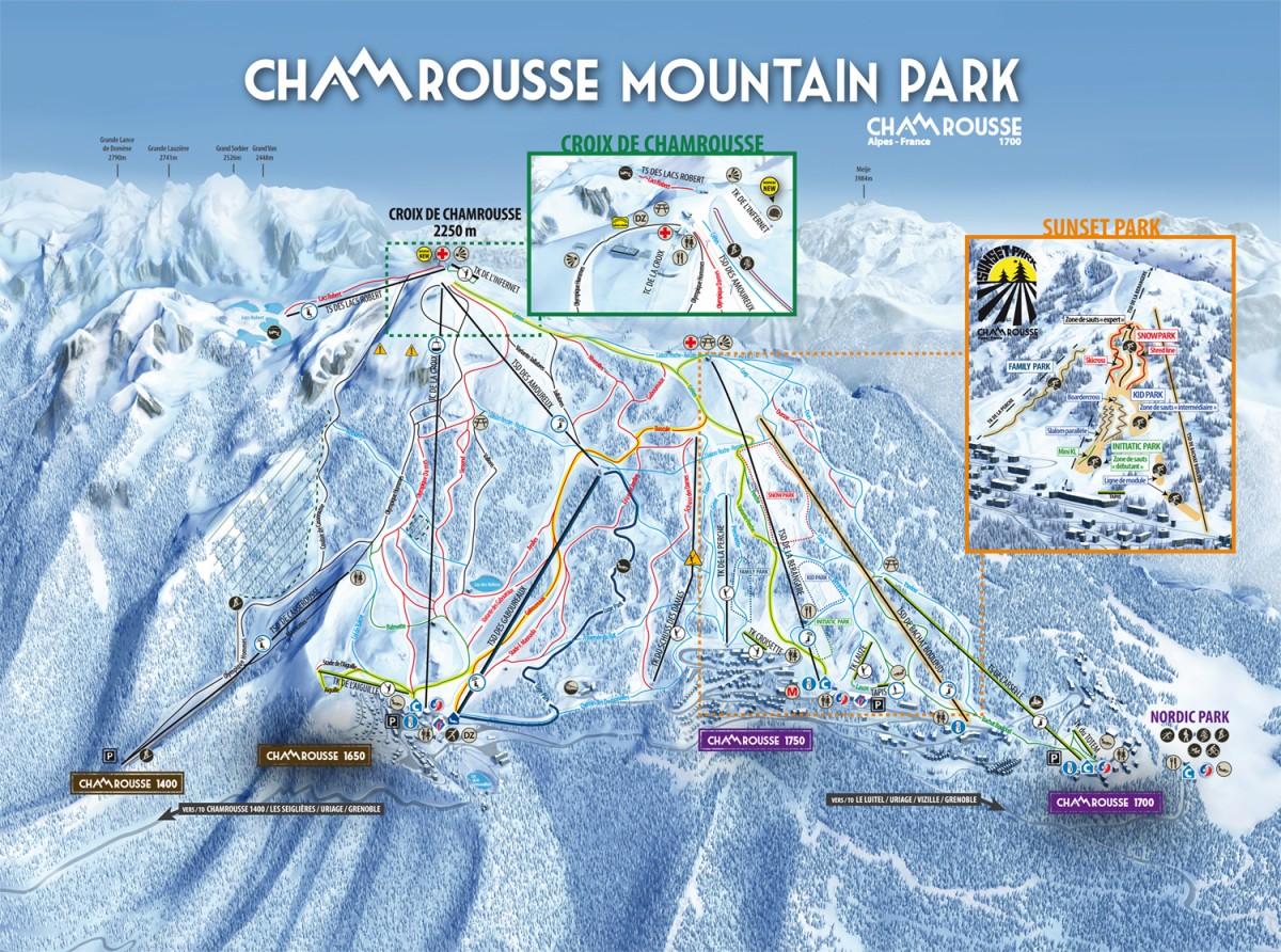 Plan des pistes alpin Chamrousse
