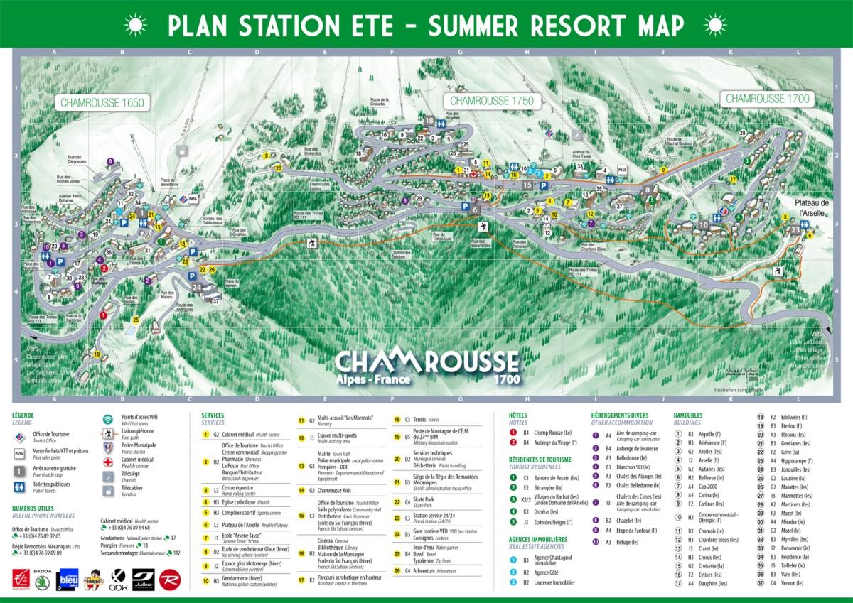 Plan station été Chamrousse