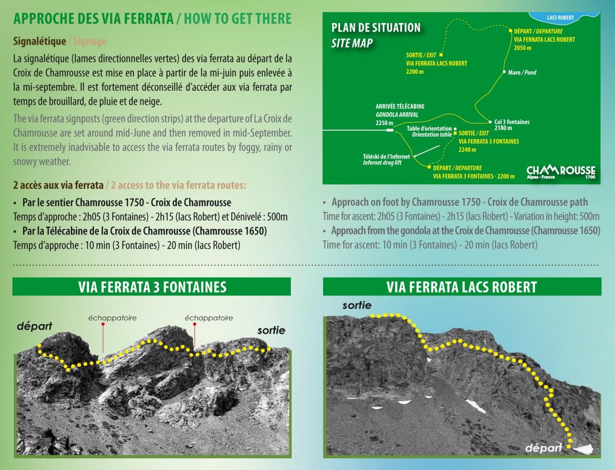Plan via ferrata Chamrousse