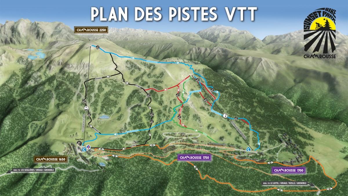 Plan VTT Chamrousse