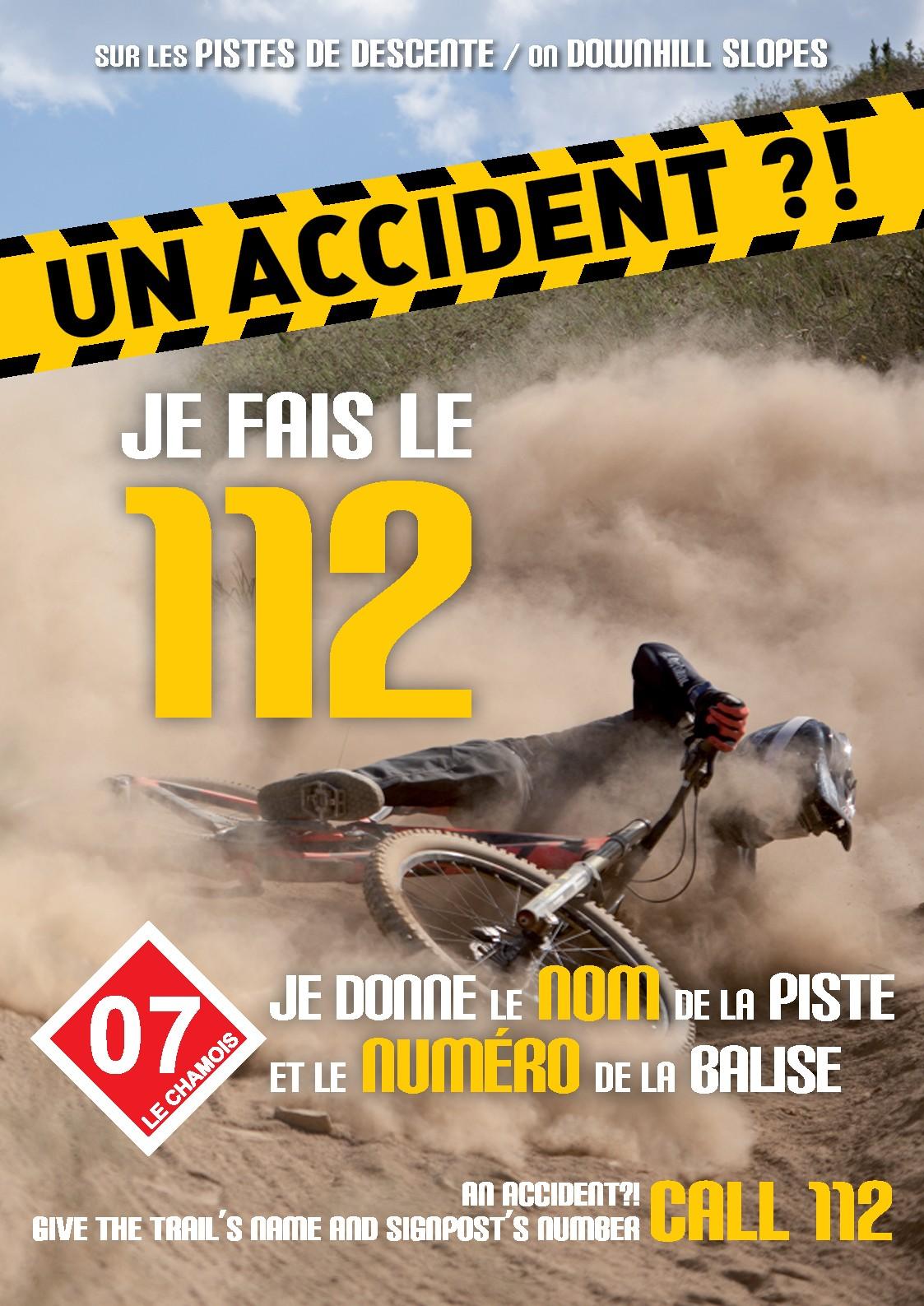 Affiche pistes de descente 112