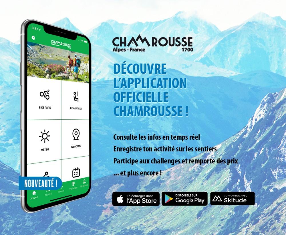 Application mobile Chamrousse station montagne été isère alpes France