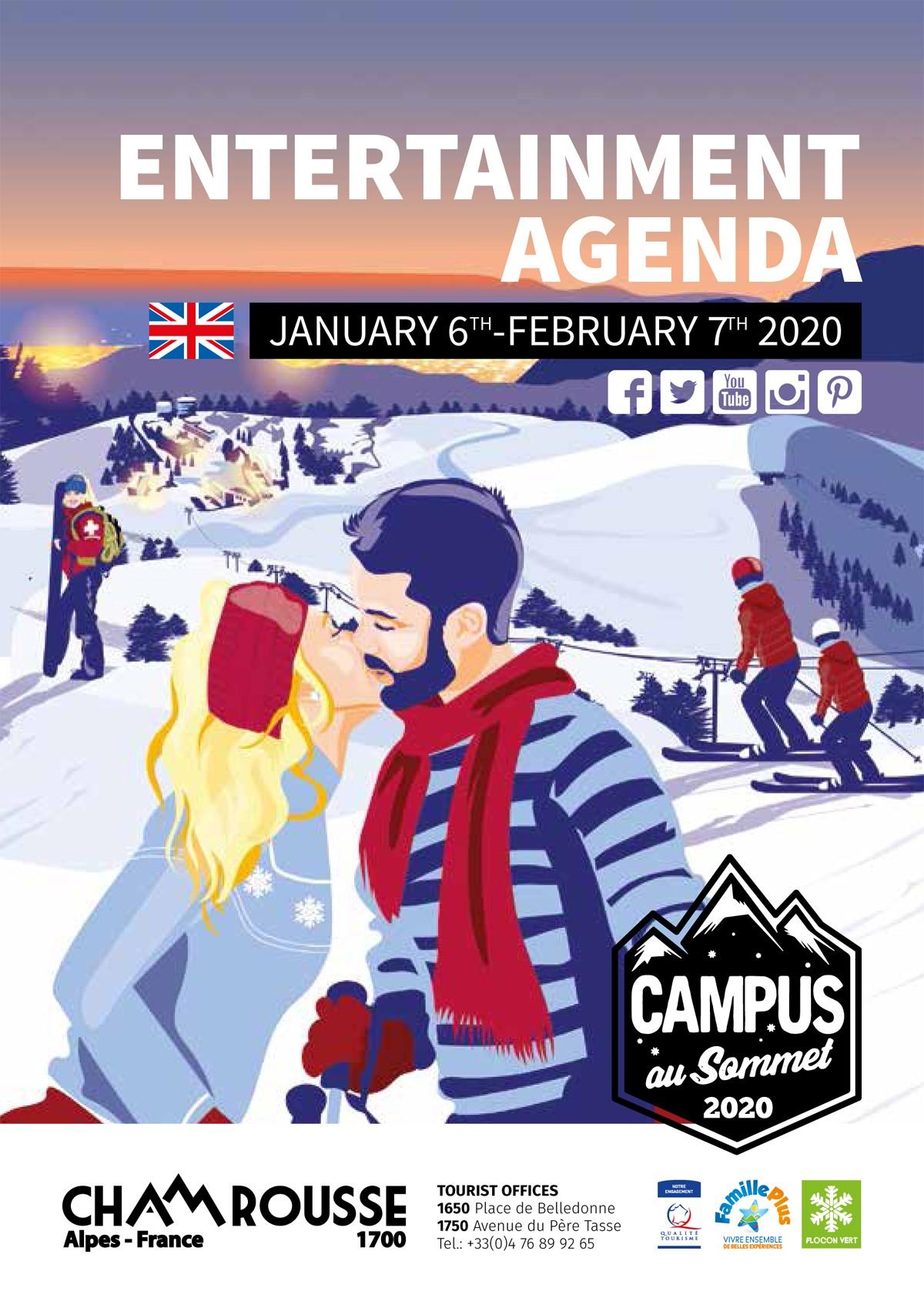 Chamrousse entertainment program January 2020 ski resort isere french alps france