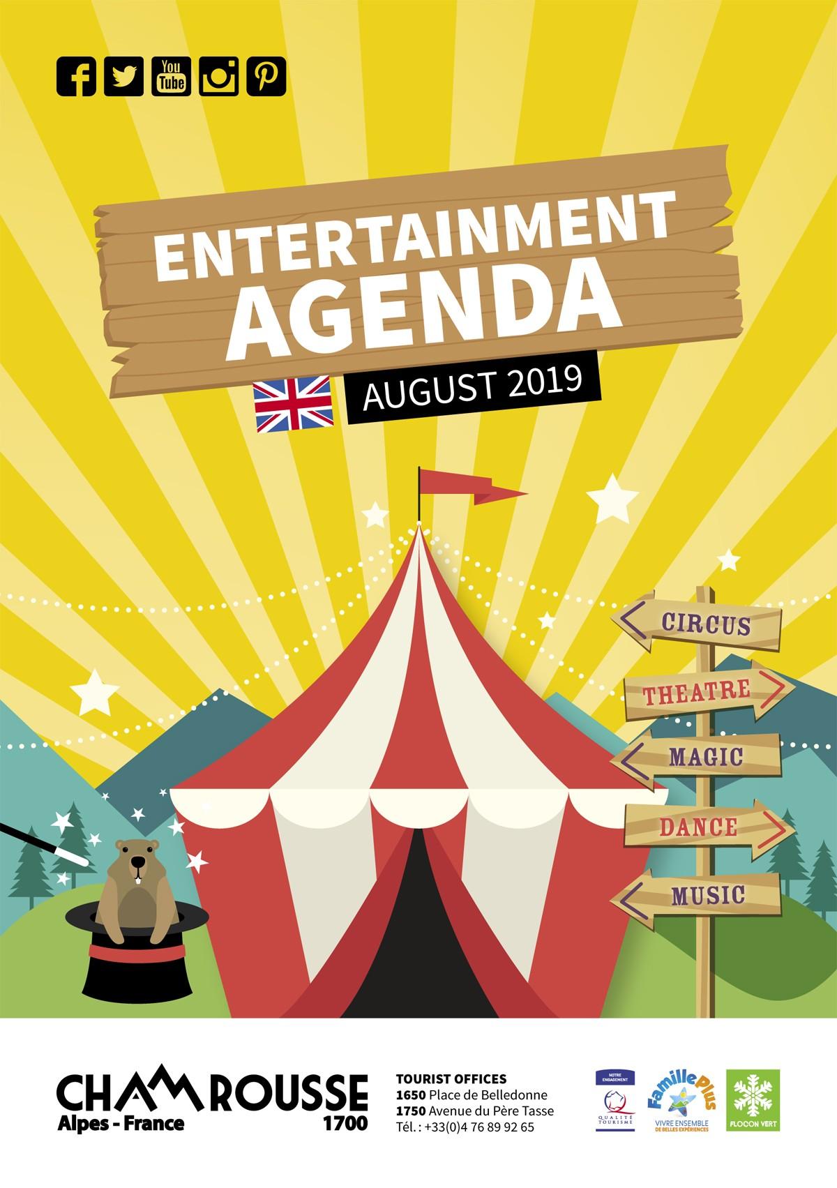 Chamrousse entertainment programme August 2019