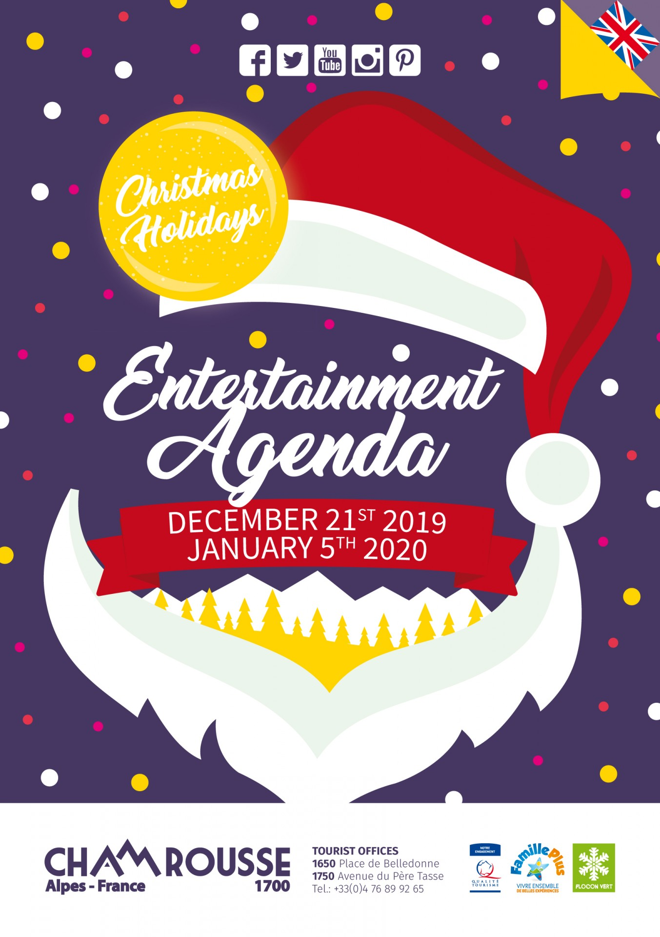 Chamrousse entertainment programme: christmas holidays 2019