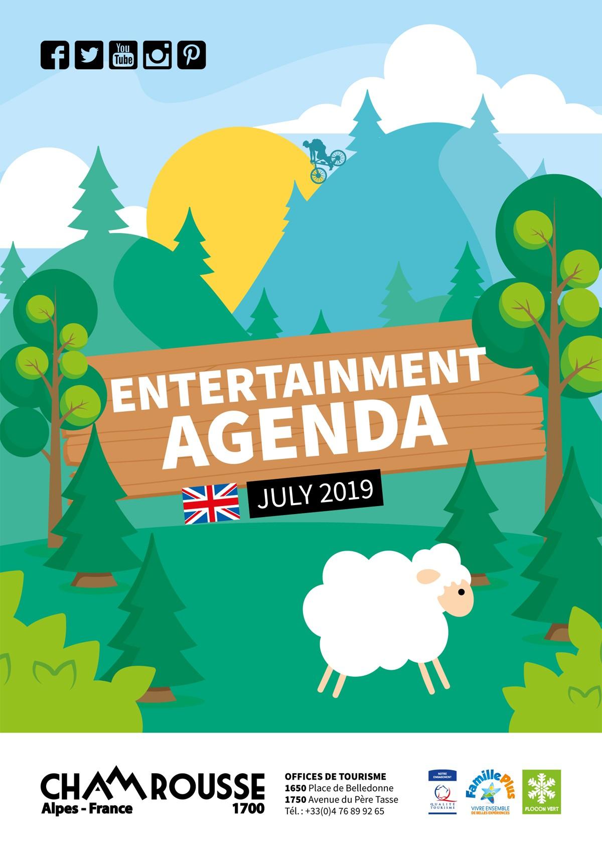 Chamrousse entertainment programme July 2019