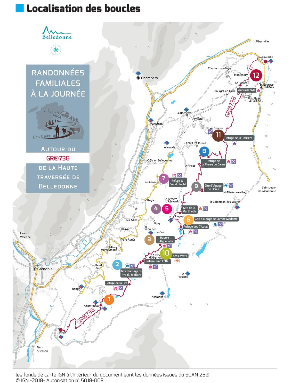 Chamrousse GR738 haute traversee belledonne station ete randonnee balade isere alpes france
