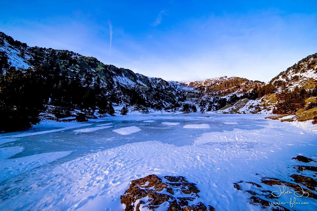 Lac Achard neige automne Chamrousse