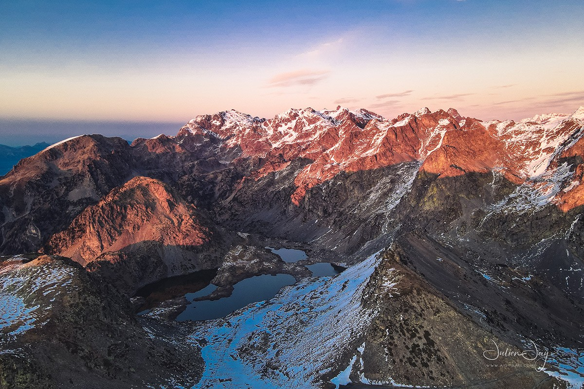 Lacs Robert coucher soleil automne Chamrousse
