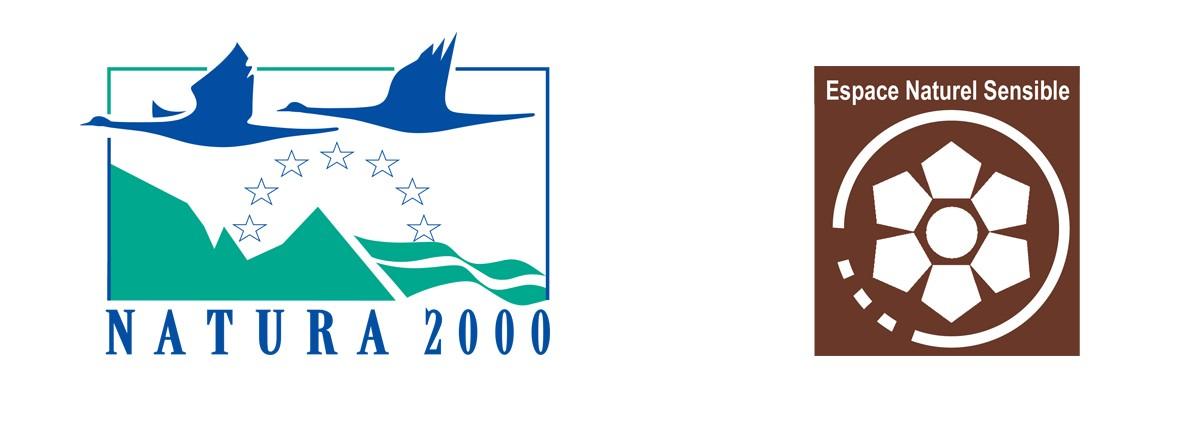 Logos Natura 2000 et Espace Naturel Sensible Chamrousse