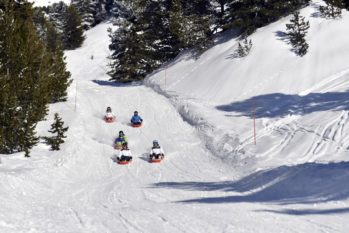 Chamrousse luge park entre amis station ski isère alpes france