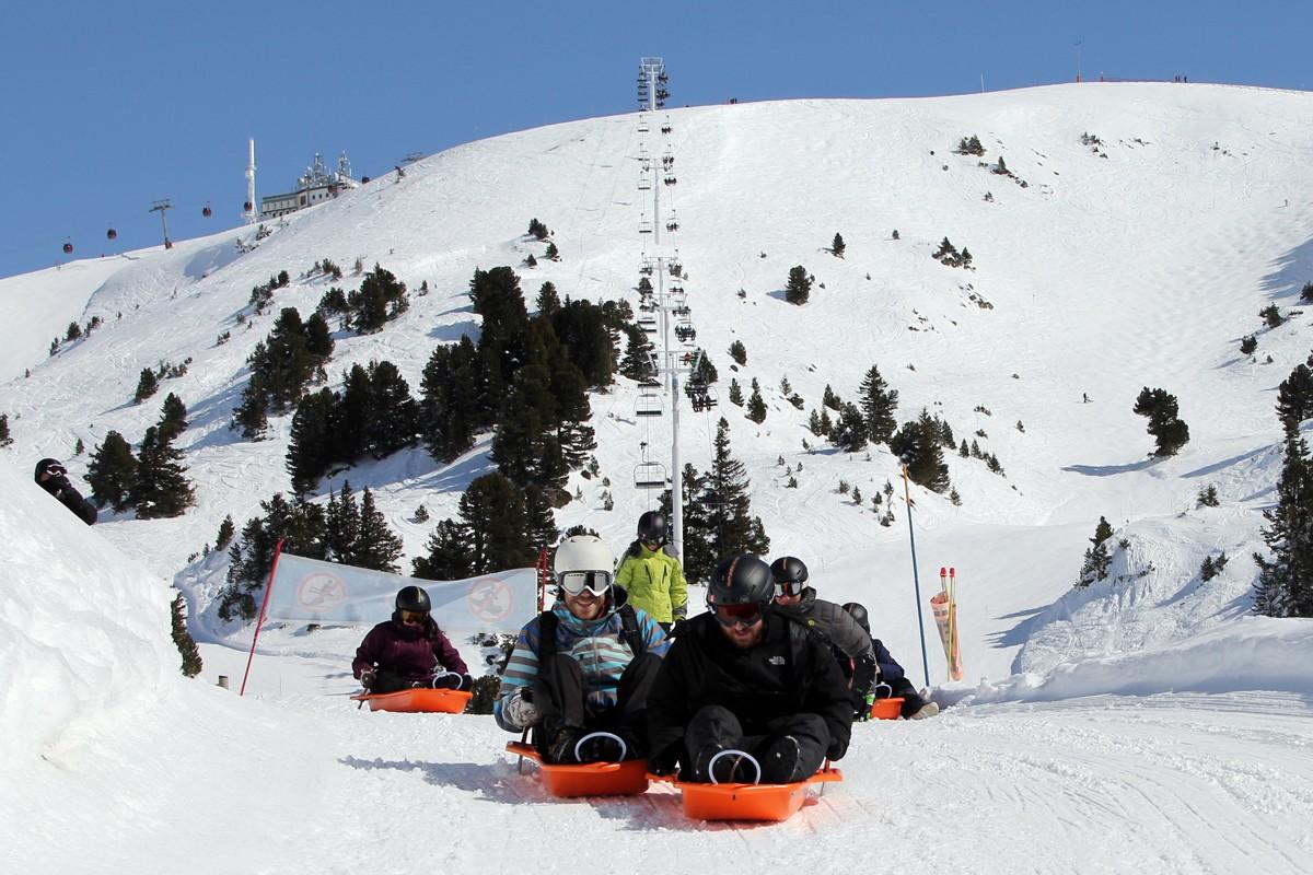 Chamrousse Luge Park station ski hiver isère alpes france
