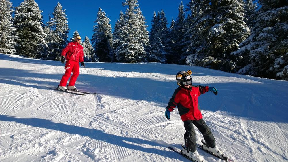 Chamrousse mini domaine ski débutant station hiver isère alpes france