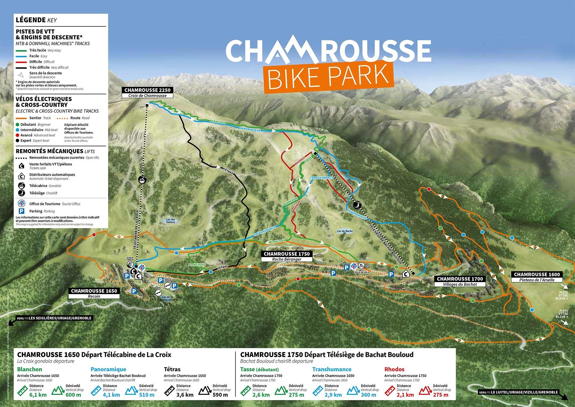 Chamrousse plan VTT bike park vtt descente vtt enduro vtt cross-country vttae été station montagne grenoble isère alpes france