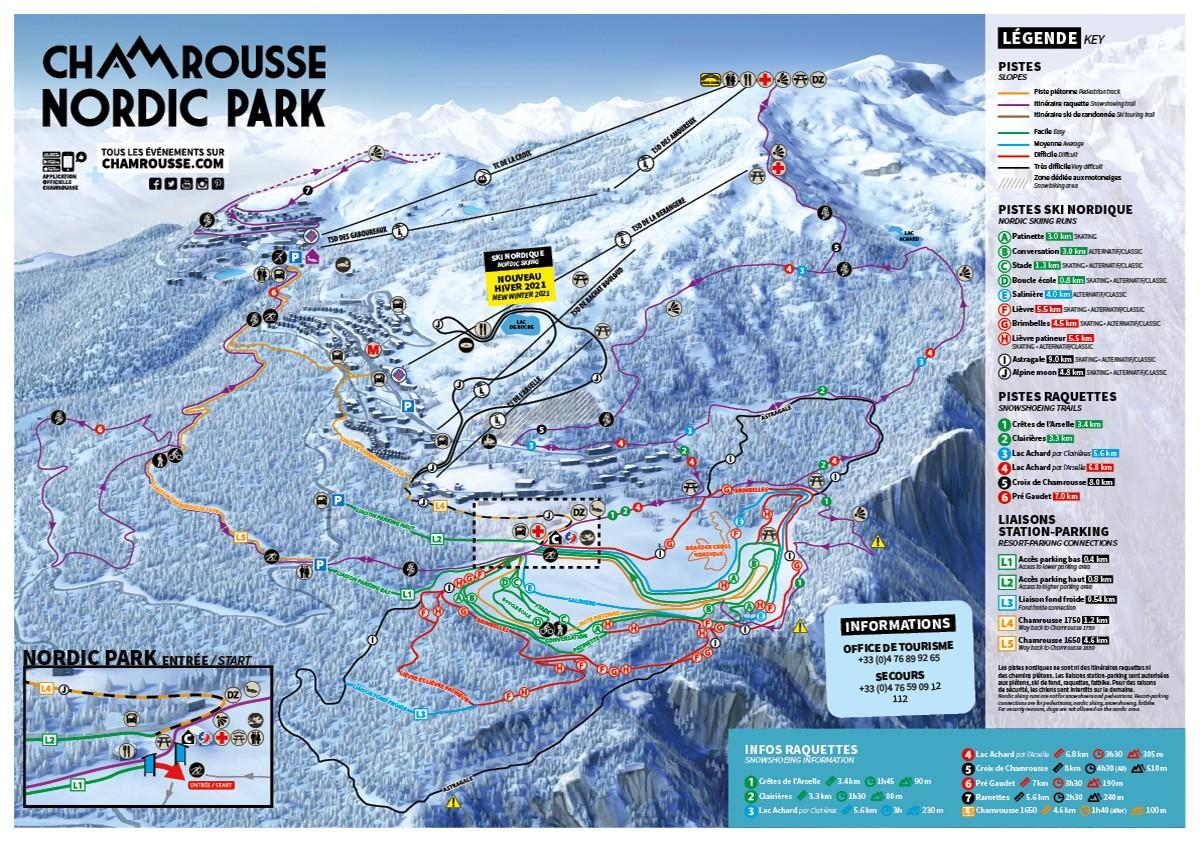 Chamrousse cross-country ski nordic mountain ski resort grenoble isere french alps france