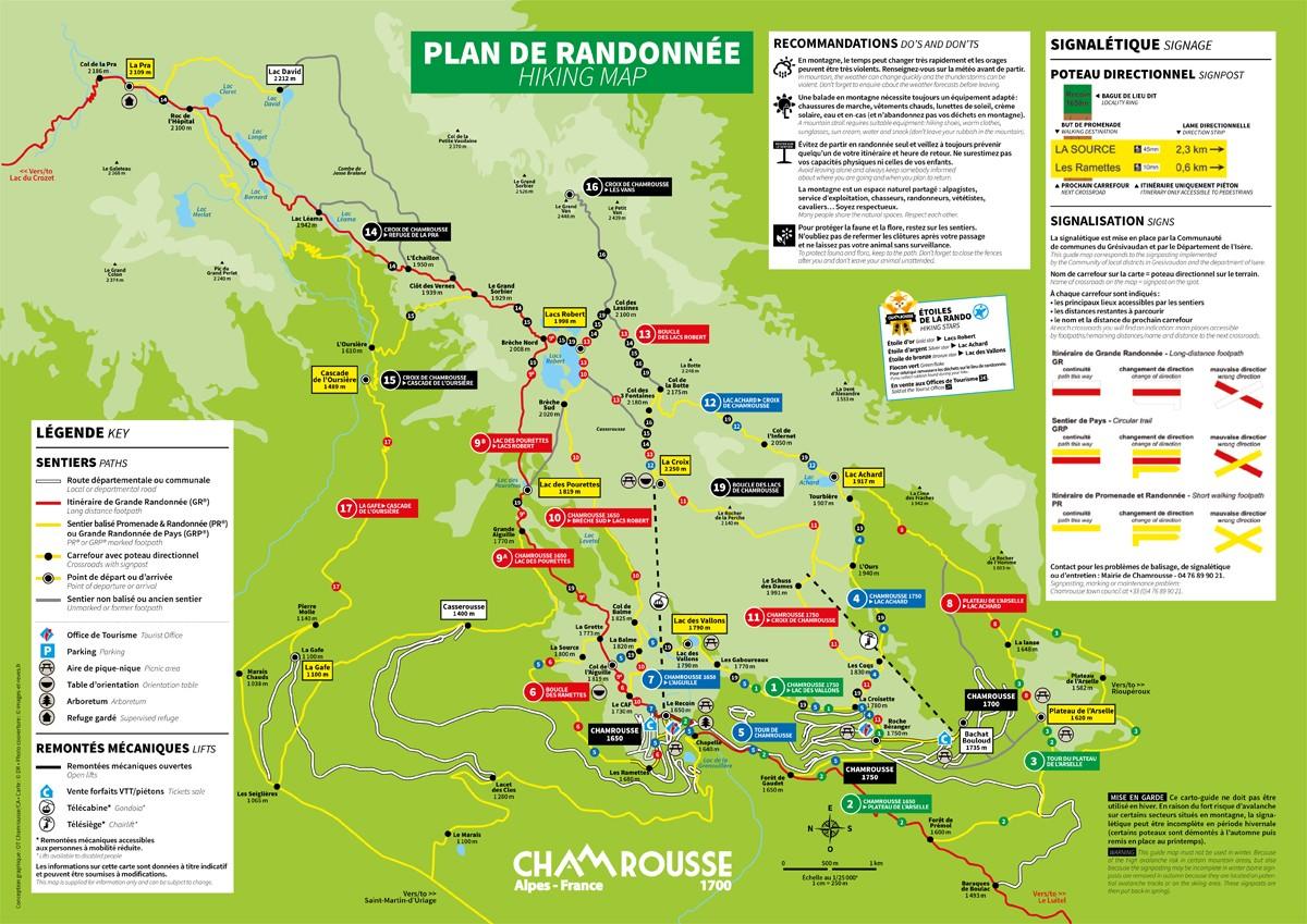 Chamrousse plan randonnée balade été 2020 station montagne isère alpes france