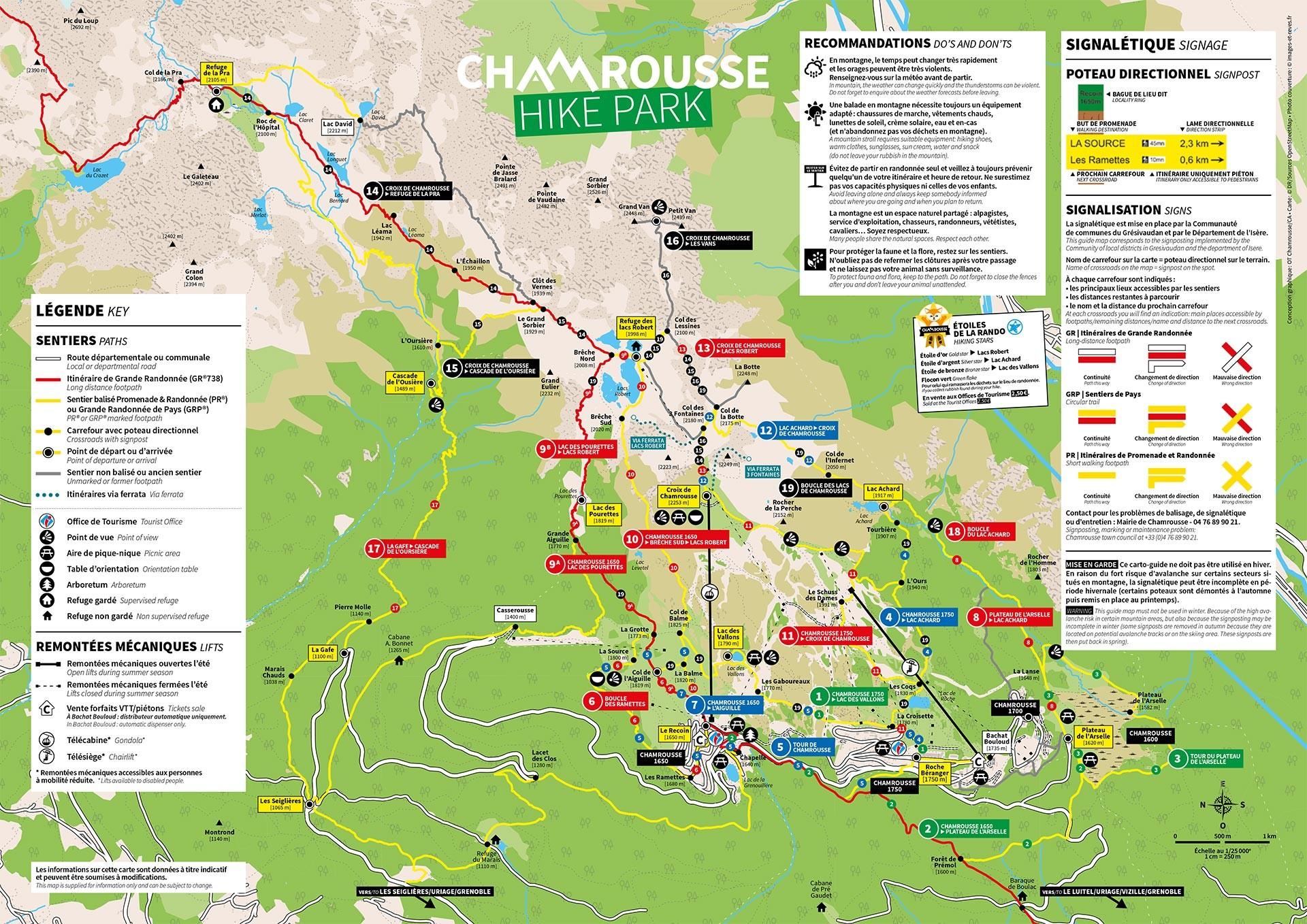 Chamrousse plan randonnée balade rando été station montagne grenoble isère alpes france