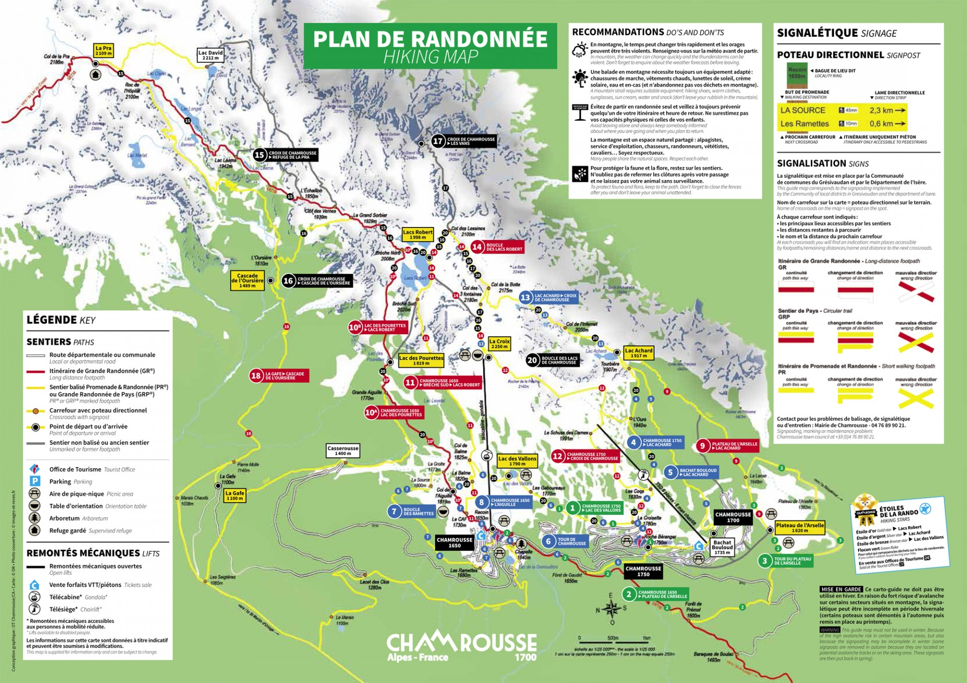Chamrousse hiking map
