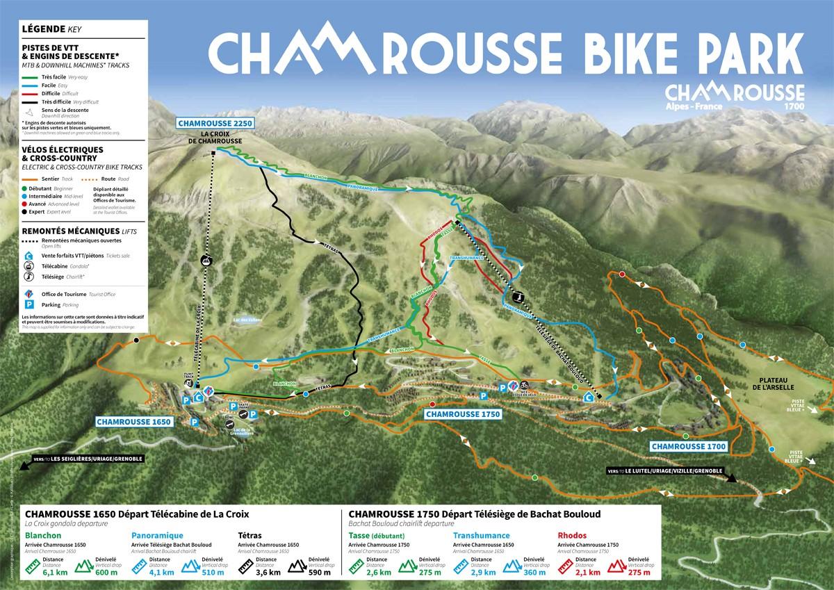Chamrousse plan vtt descente cross-country vttae été 2020 station montagne isère alpes france