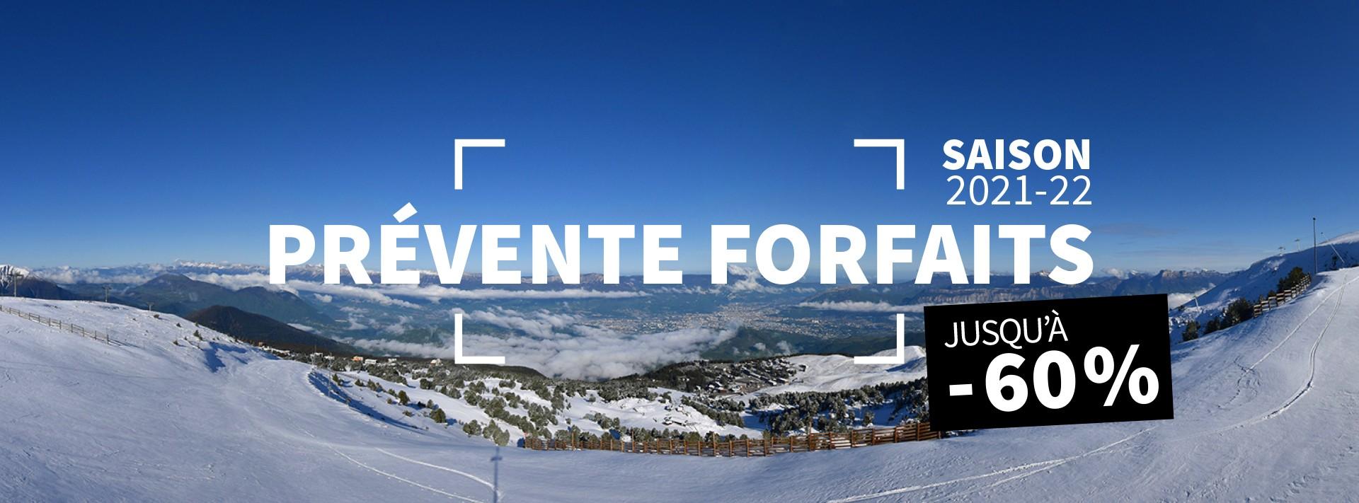 Prévente juillet forfait ski saison hiver année Chamrousse